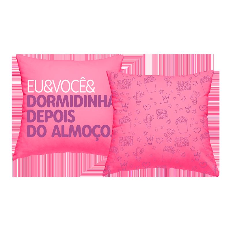 CAPA DE ALMOFADA - EU & VOCE E DORMIDINHA