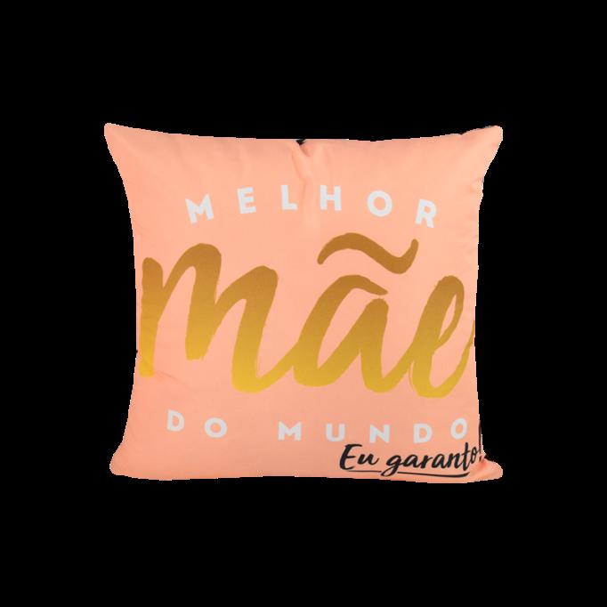 CAPA DE ALMOFADA - MELHOR MAE DO MUNDO