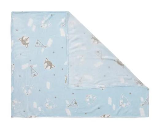 Cobertor Microfibra Azul Estampado