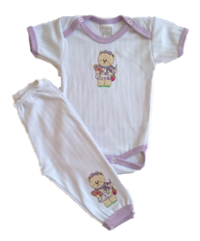 Conj Pijama Body + Calça Lilás TAMANHO P