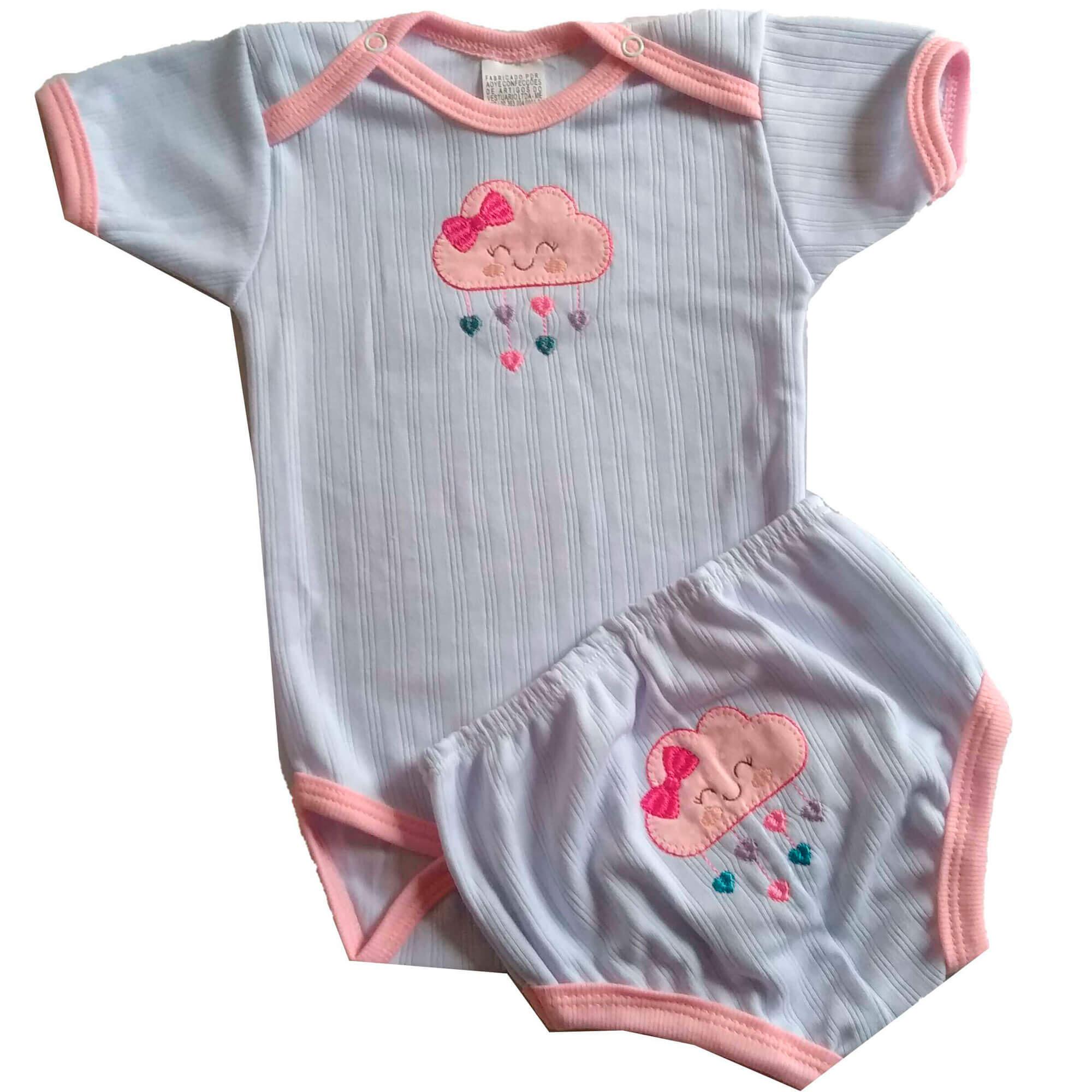 Pijama Nuvem Rosa TAMANHO G