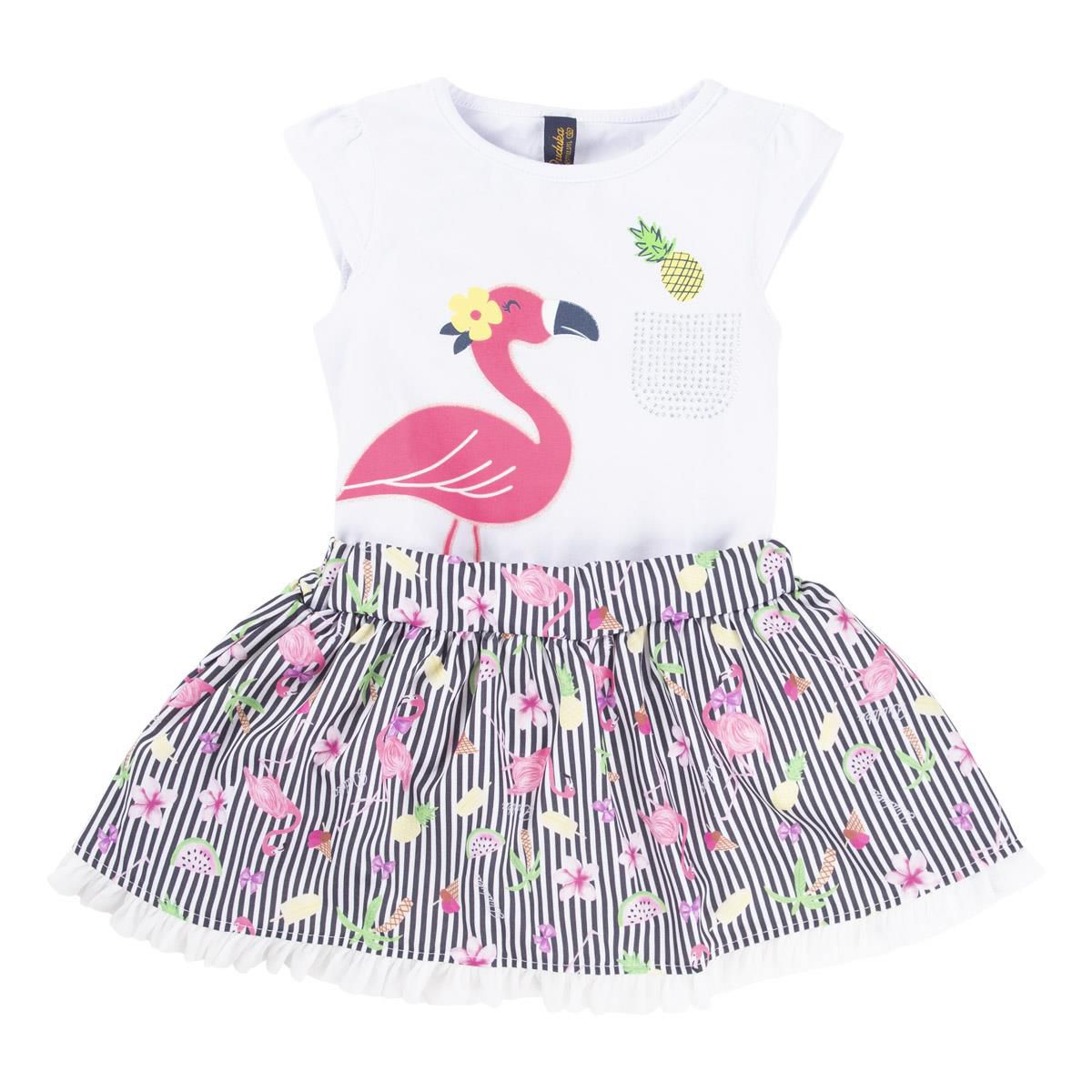 CONJUNTO FLAMINGO ESTAMPADO