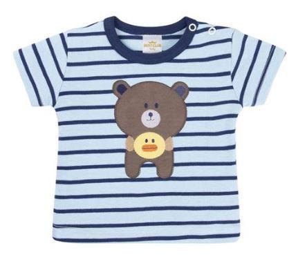 Conjunto Menino Body + 03 Peças Bordado Urso