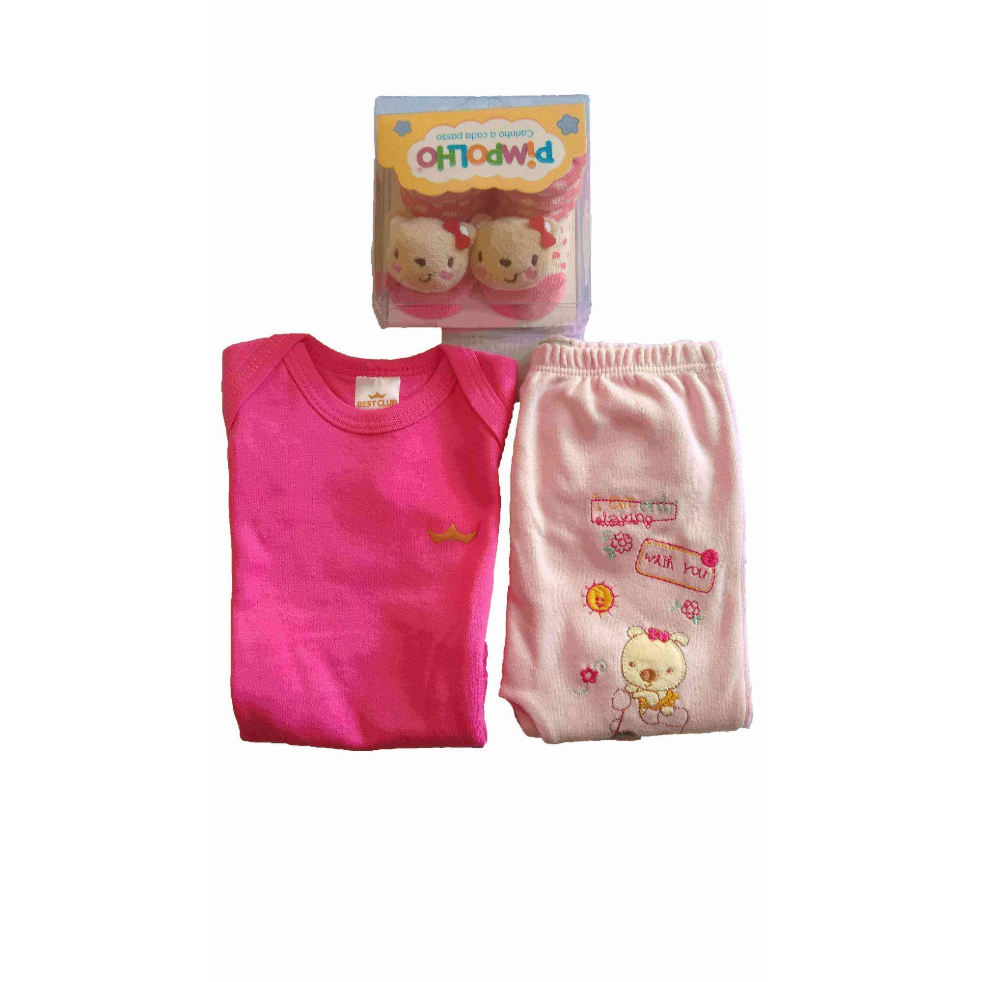 Kit Bebê Fofinho Menina - rosa