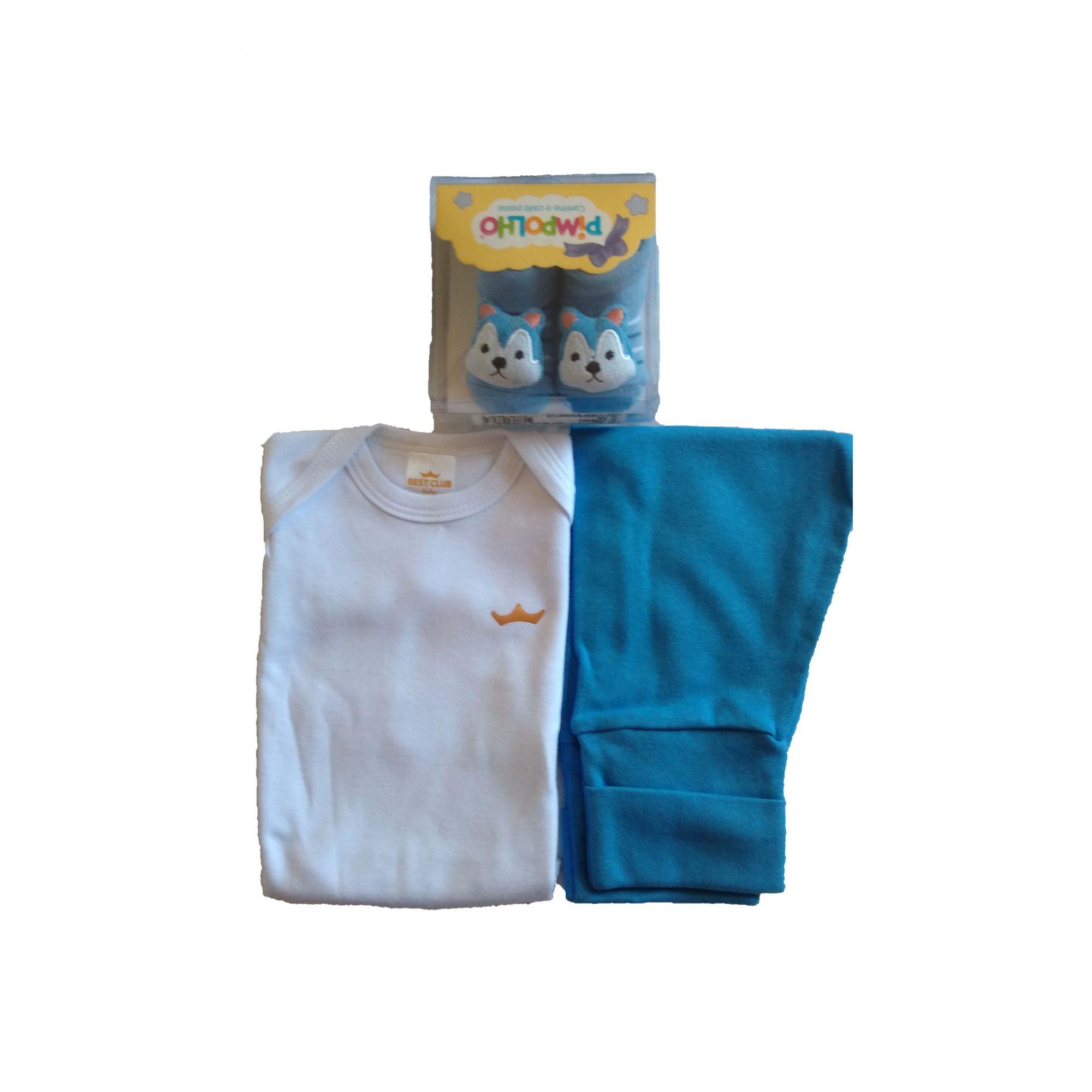 Kit Bebê Fofinho Menino - azul