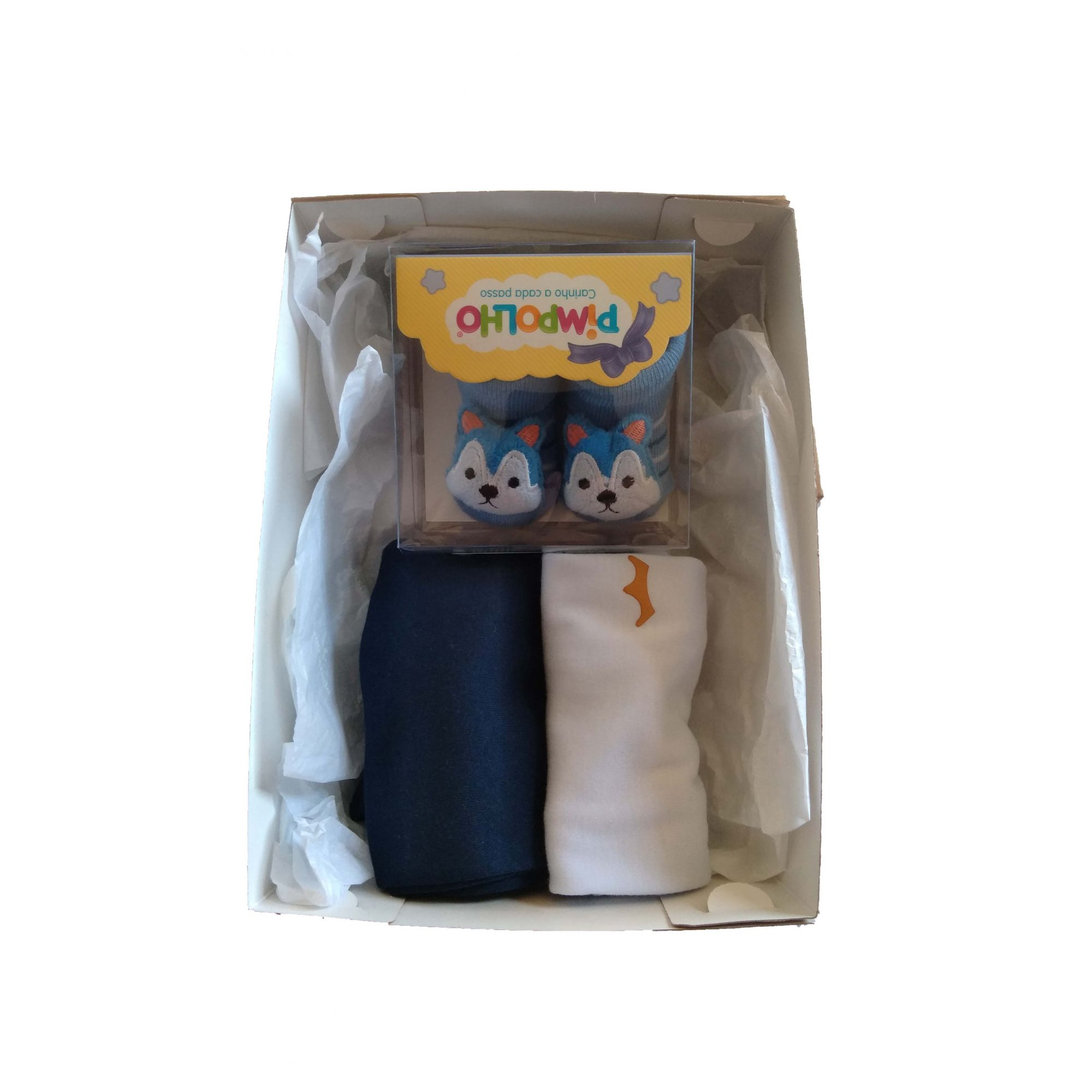 Kit Bebê Fofinho Menino - azul marinho