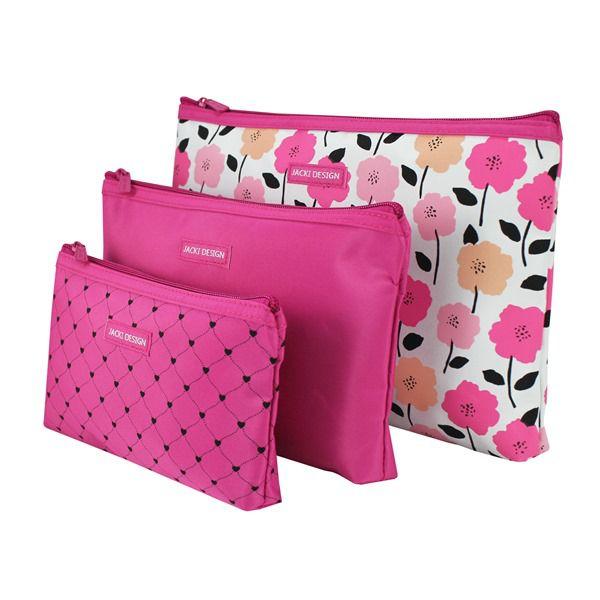 Kit de Necessaire de 3 Peças Pink