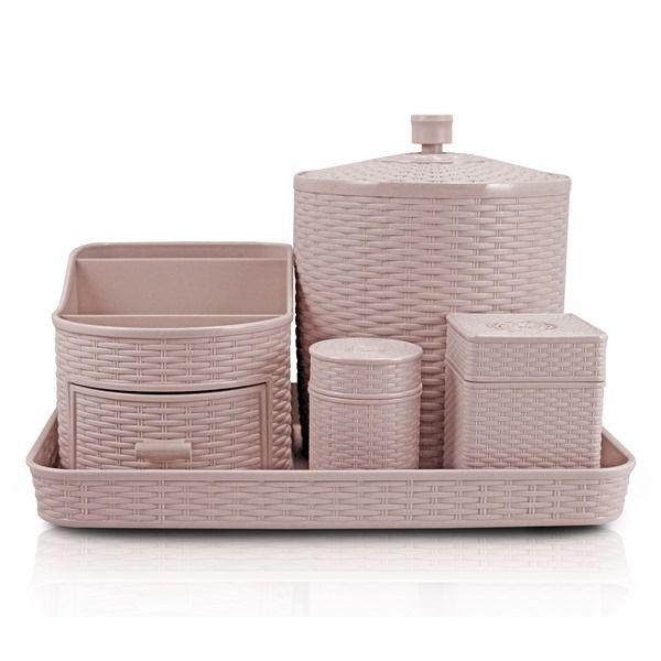 Kit de Organização de 5 Peças Rosa