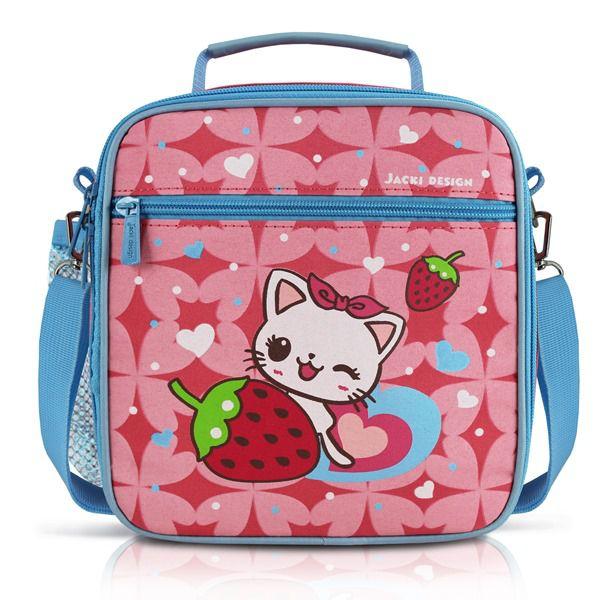 03c26b08e Lancheira Térmica Infantil - Gato Pink Jacki Design Hanni Lancheiras