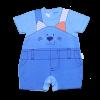 Macacão Menino Curto Gatinho Azul