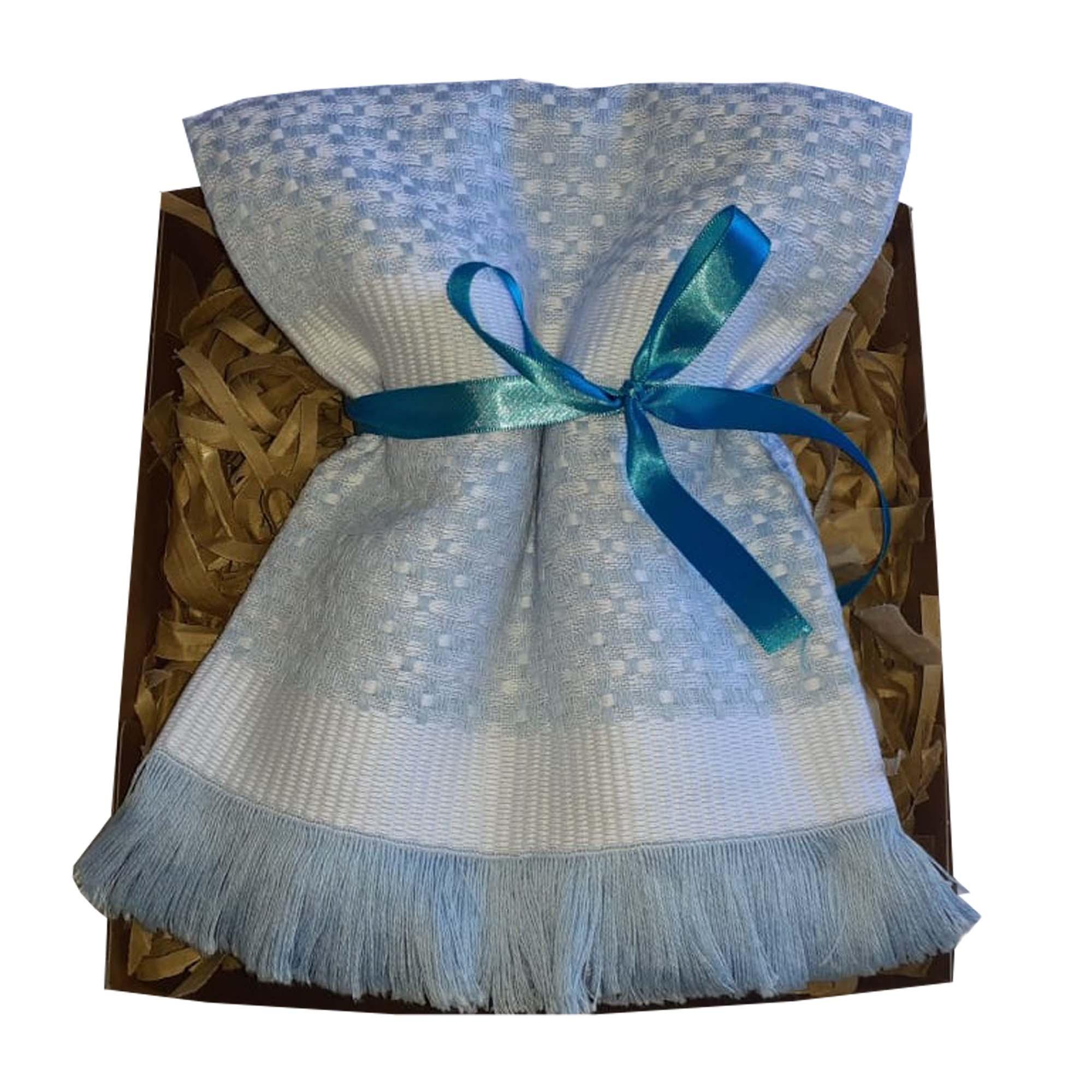 Manta Baby Térmica Piquet Azul