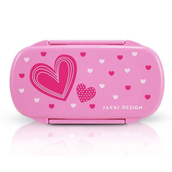Pote p/ Lanche - Coração Pink Jacki Design