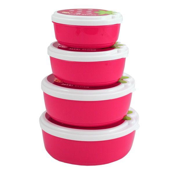 Pote p/ Lanche de 4 Peças Pink