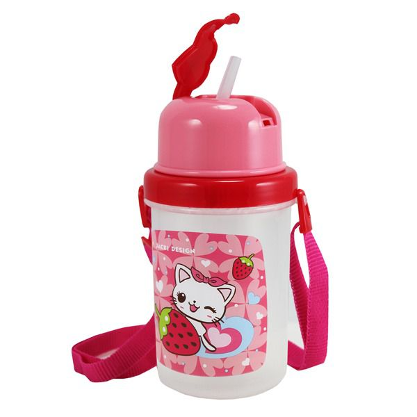 Squeeze 450ml Infantil Gato Pink