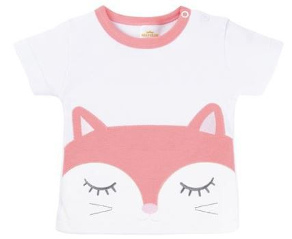 Trio Baby Camiseta + Body Raposa e Shorts