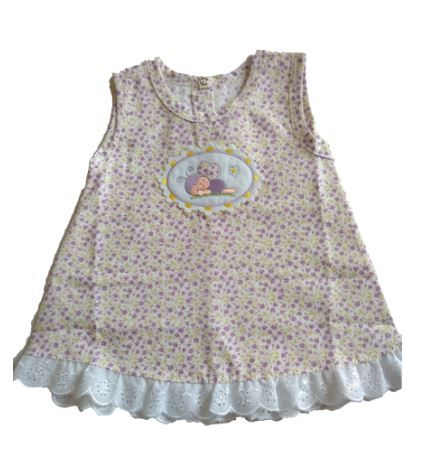 Vestido  floral com Tapa Fralda Joaninha