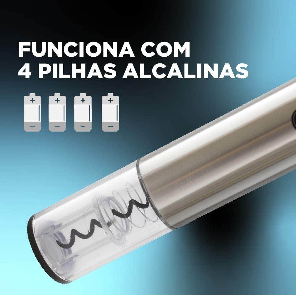 ABRIDOR DE VINHO PRATA - WINE INOX