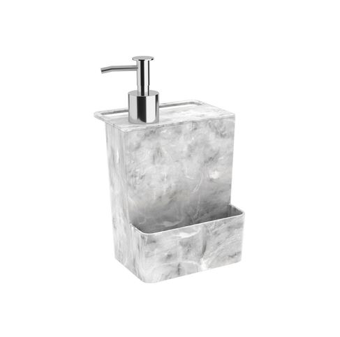 DISPENSER MULTI GLASS 600 ML, 12 X 10,6 X 20,8 CM, MÁRMORE BRANCO, COZA - 20719/0480