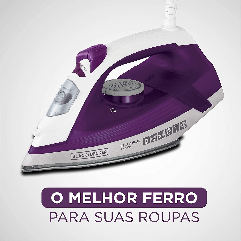 FERRO DE PASSAR A VAPOR COM BASE CERÂMICA AZUL 110V - FX2500