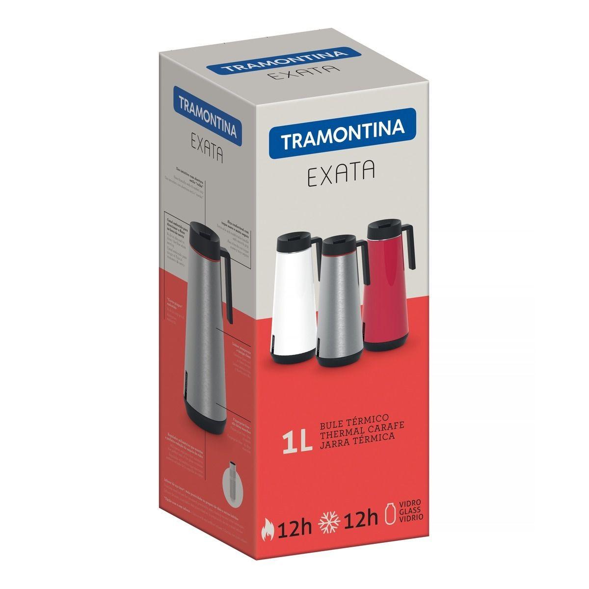 GARRAFA BULE TÉRMICO INOX 1L EXATA - TRAMONTINA 61645/100