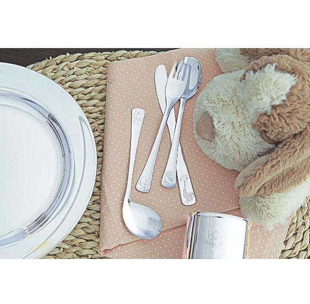 JOGO DE TALHERES INFANTIL TRAMONTINA BABY FRIENDS C/ DESENHO EM ALTO RELEVO 3 PÇS - 66970/020