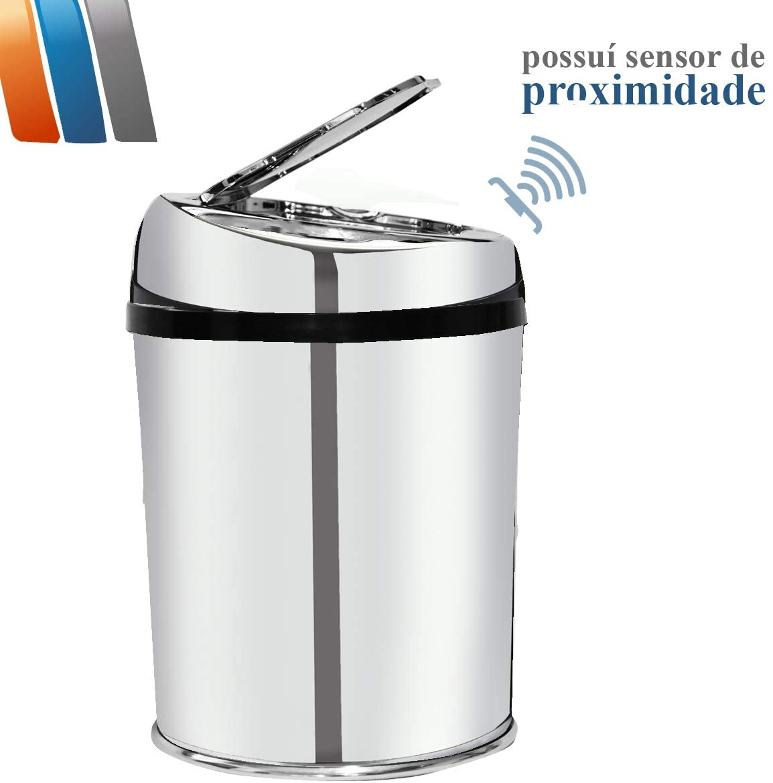 LIXEIRA AUTOMÁTICA C/ SENSOR DE PROXIMIDADE 3 LITROS INOX - WTL-300