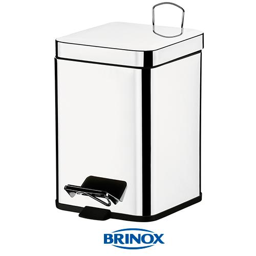 LIXEIRA QUADRADA 6L - BRINOX 3044/201