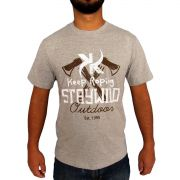 Camiseta Country Keep Roping Staywild Mescla Escura 73e9b78123f