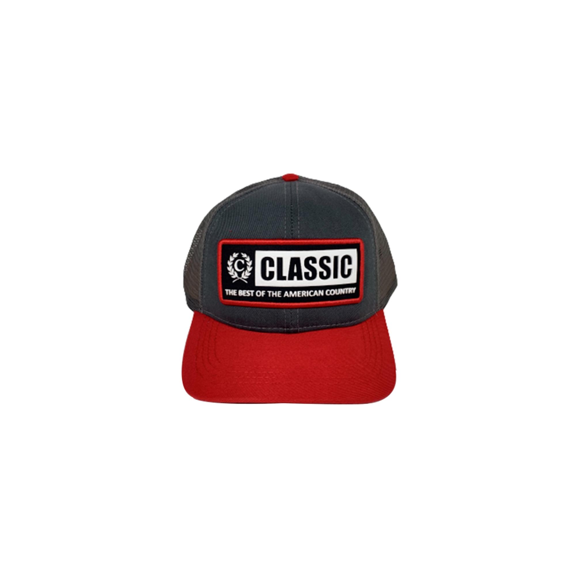 Boné Classic Cinza/Vermelho Classic004