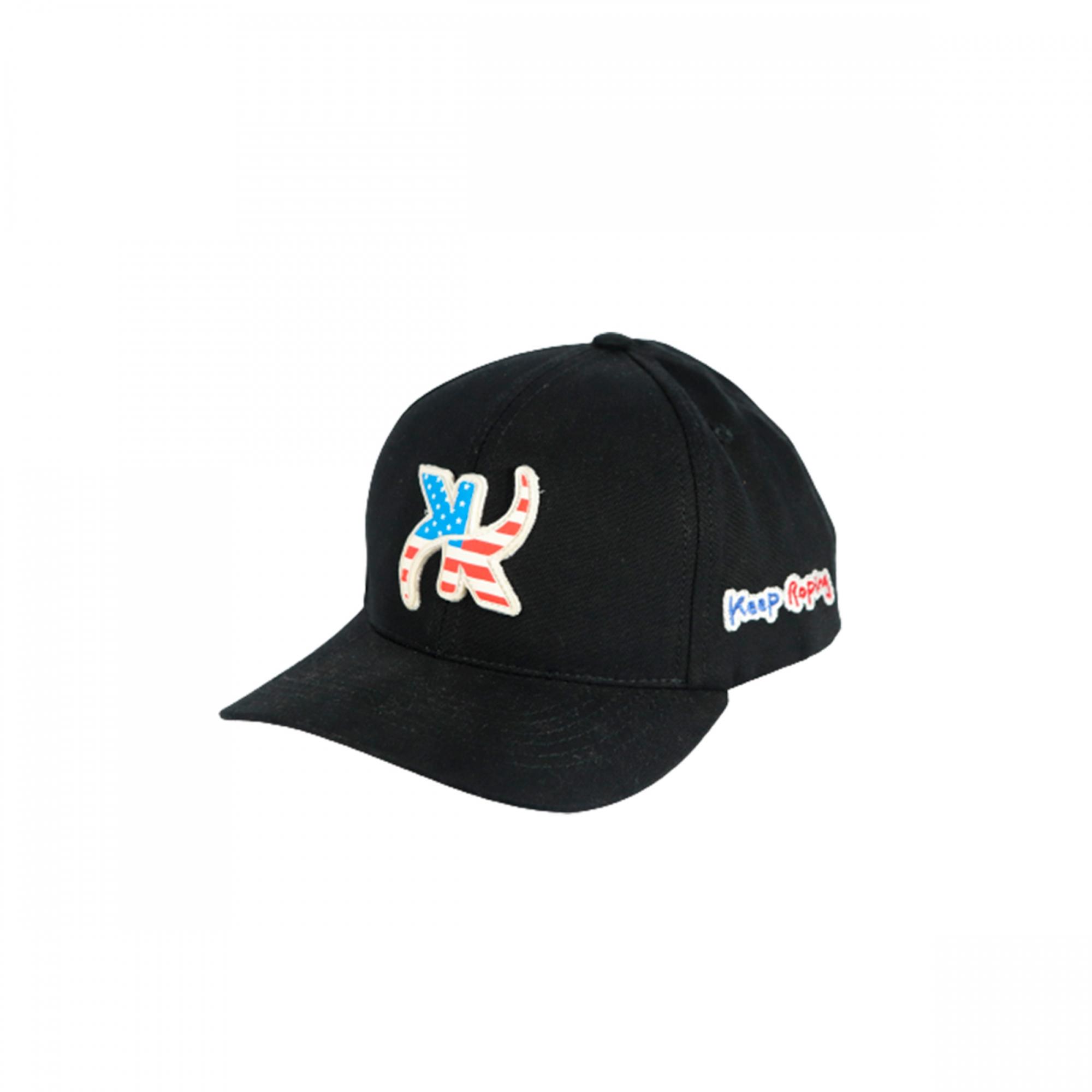 Boné Keep Roping Baseball Hat com aba curva Preto/USA