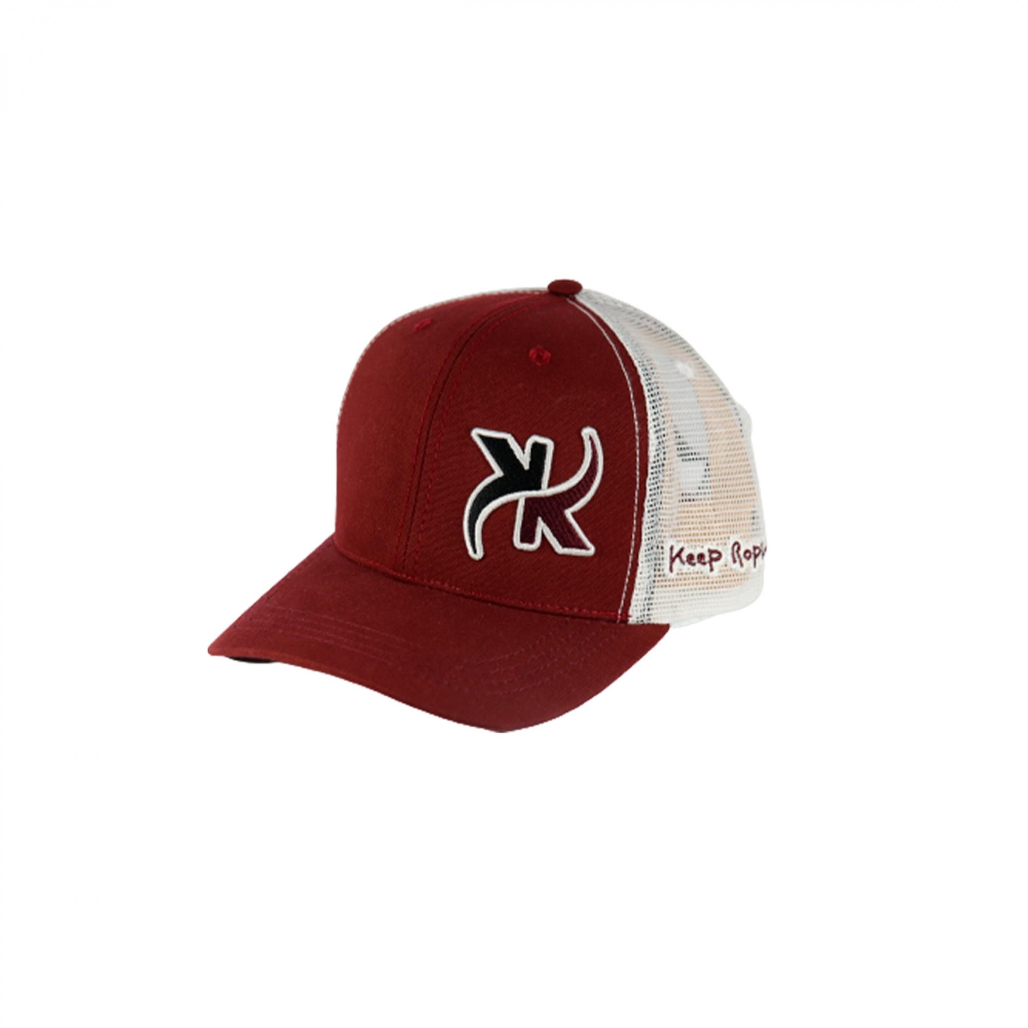Boné Keep Roping Trucker Hat com aba curva Bordo/Branco