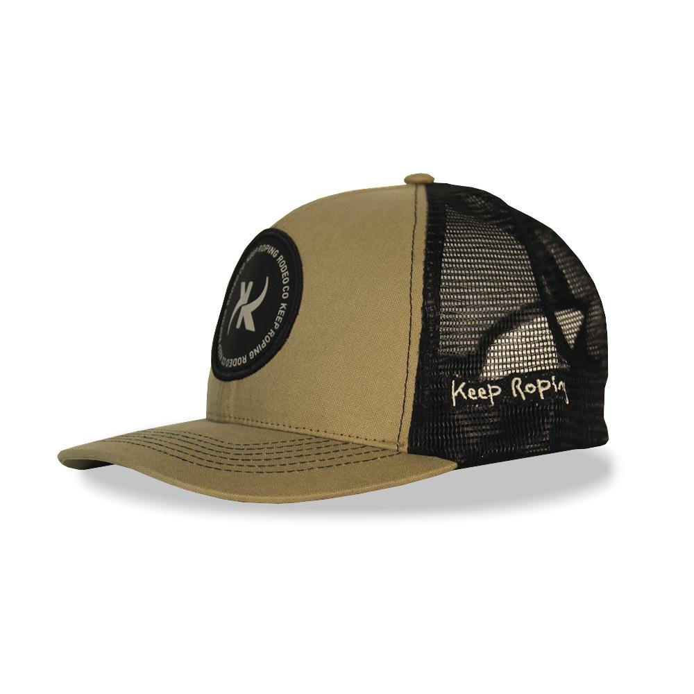 Boné Keep Roping Trucker Hat com aba curva Caqui/Preto