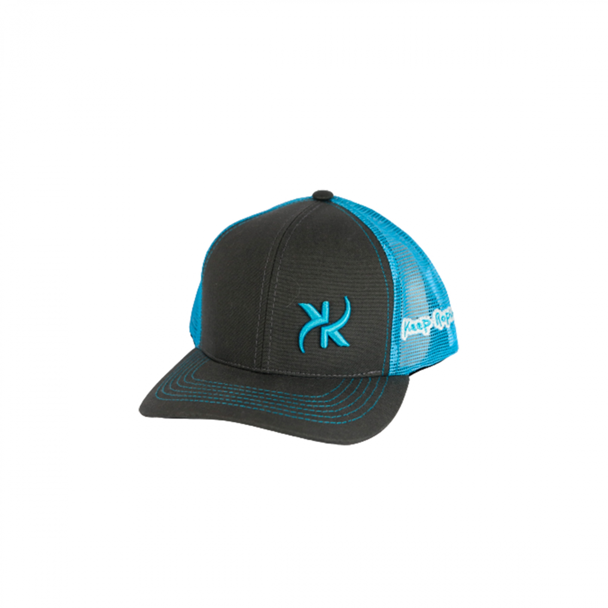 Boné Keep Roping Trucker Hat com aba curva chumbo/Azul
