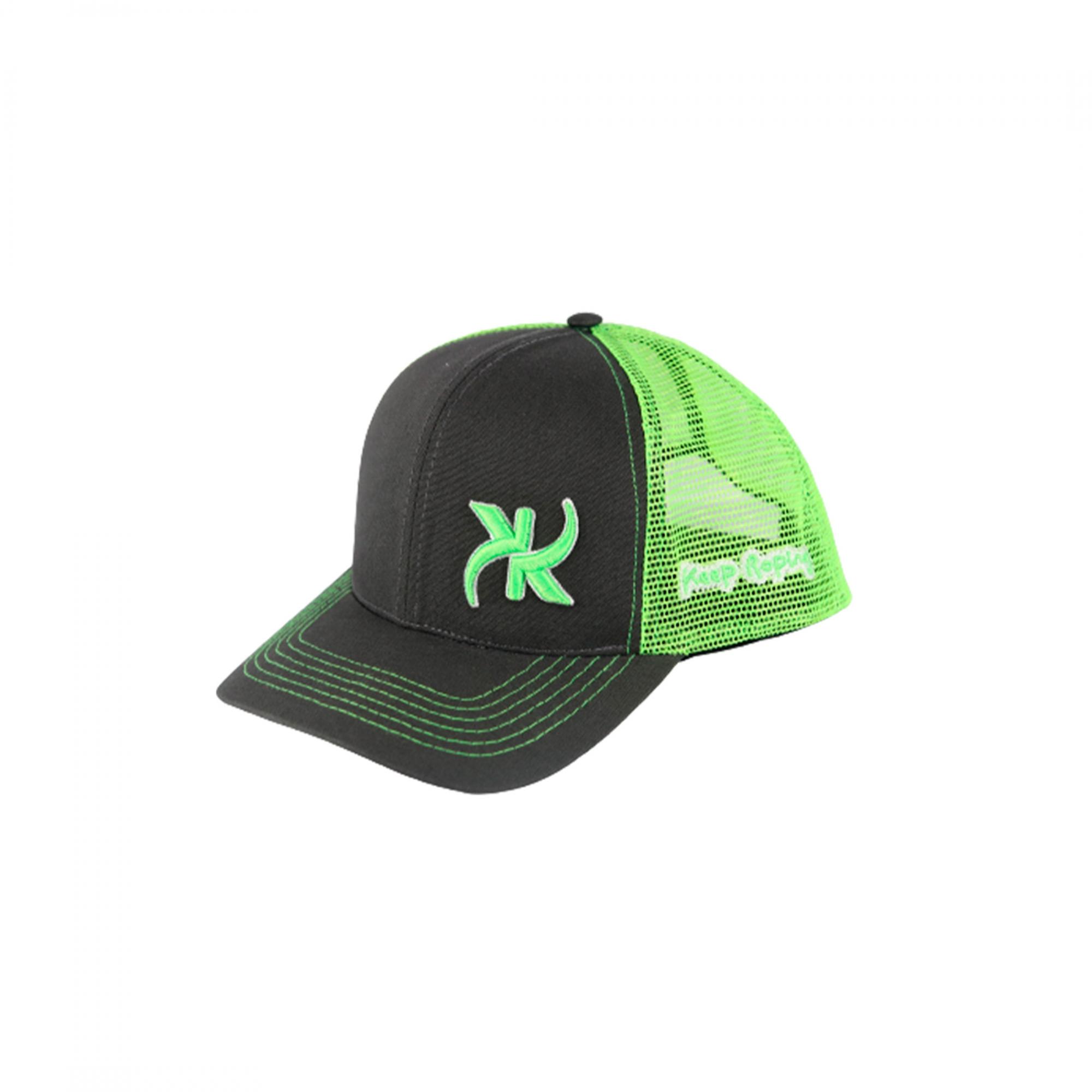 Boné Keep Roping Trucker Hat com aba curva Chumbo/Verde
