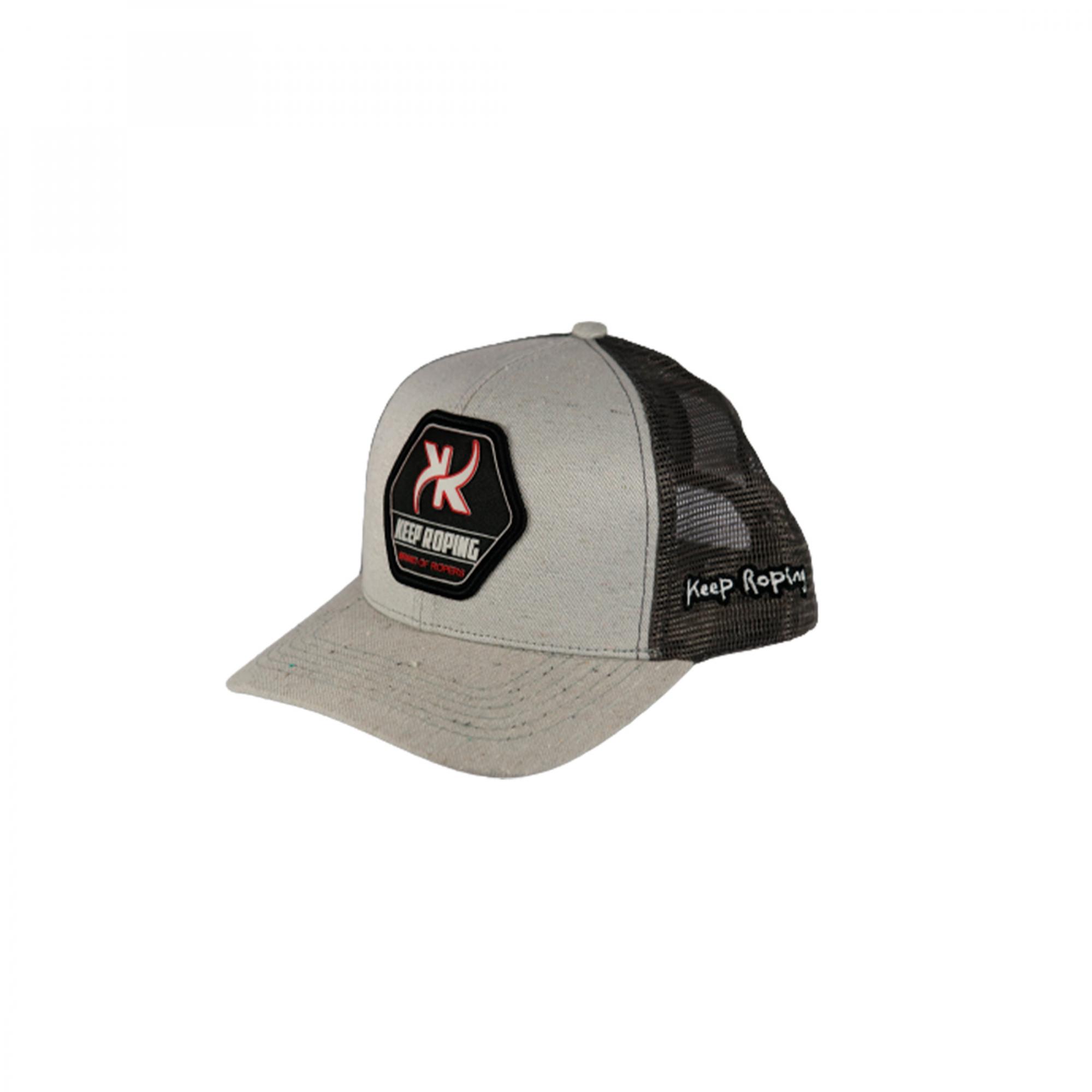Boné Keep Roping Trucker Hat com aba curva Cinza/Chumbo