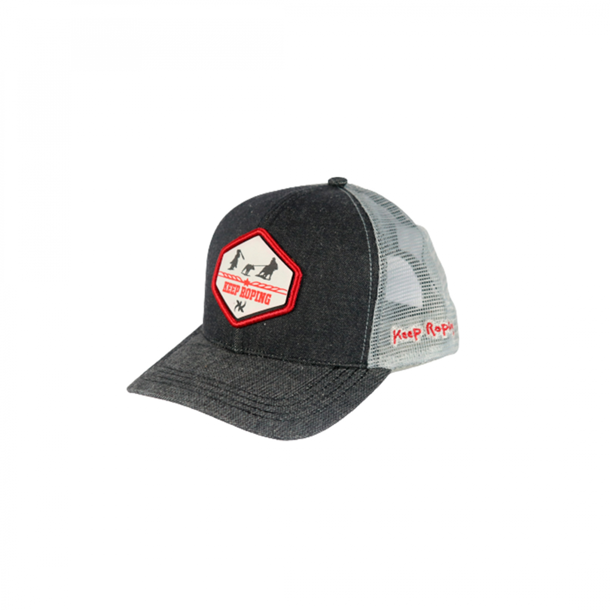 Boné Keep Roping Trucker Hat com aba curva Jeans/Branco