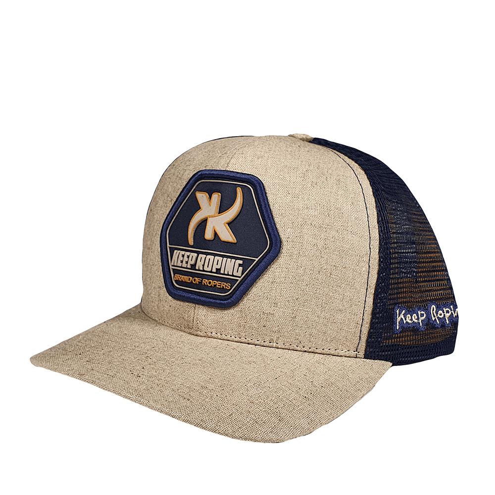 Boné Keep Roping Trucker Hat com aba curva Ocre/Preto