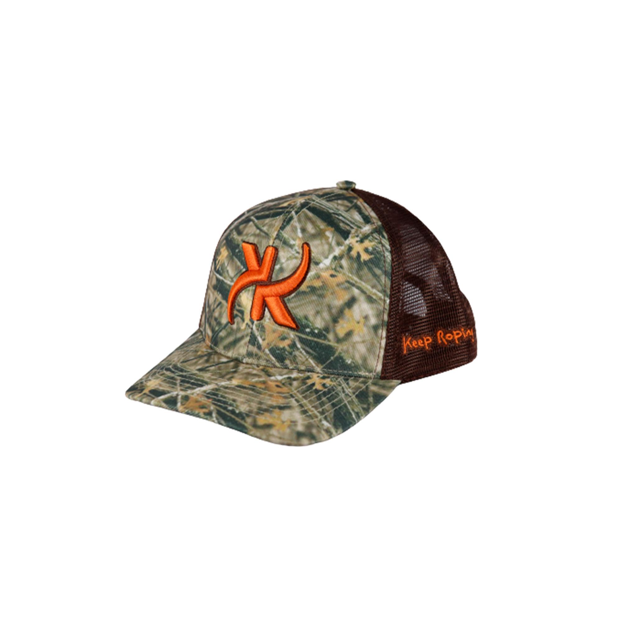 Boné Keep Roping Trucker Hat com aba curva Sublimado/Marrom