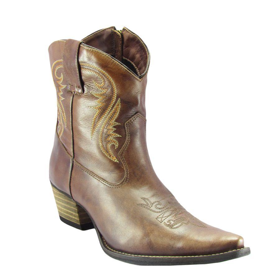 26eb130fc9e7f Bota Bico Fino Feminina Tucson Tp463 Café 40 - Cowboy BR
