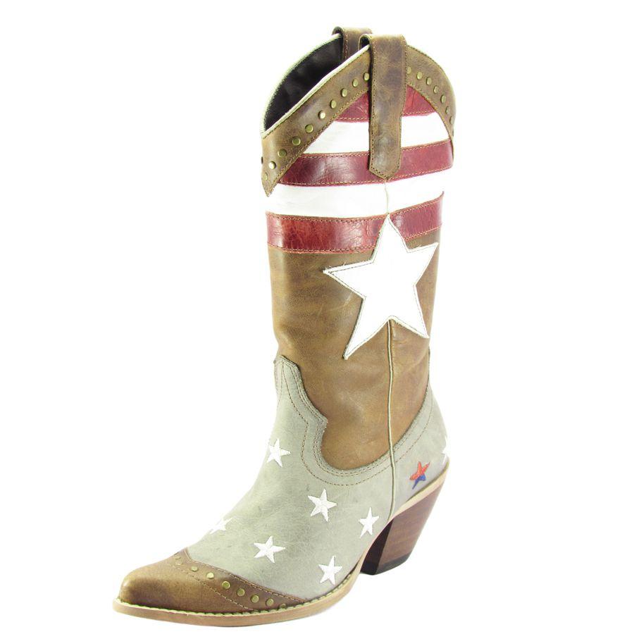 f8a52f8d86cd3 Bota Bico Fino Feminino West Country Cano EUA - Cowboy BR