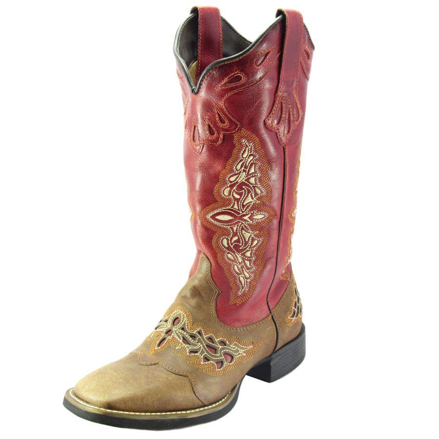 Bota Texana Feminina West Country Red   Cas 13018 - Cowboy BR b04274f2147