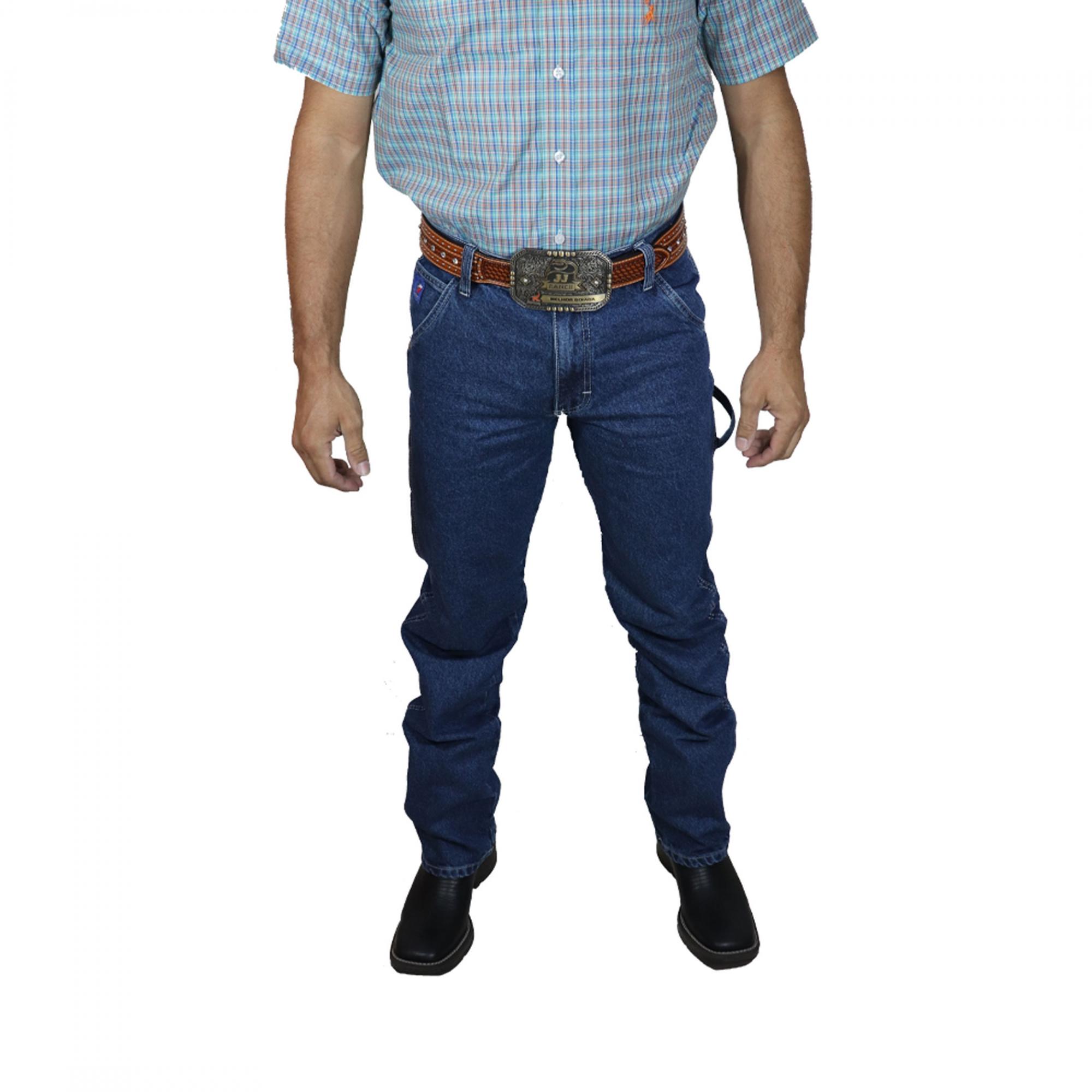 Calça Jeans Best Rodeio Carpinteira Costura Branca CS957