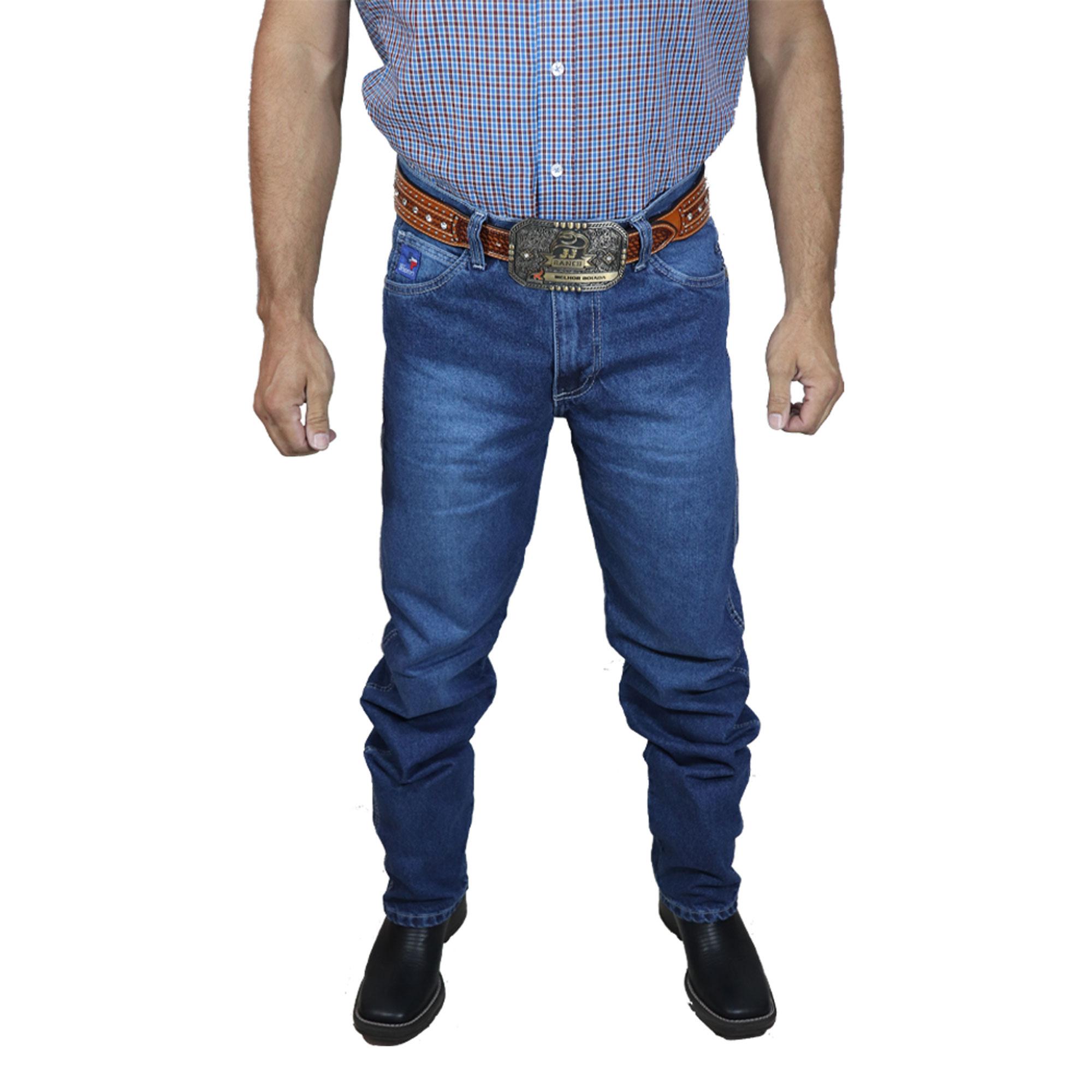 Calça Jeans Best Rodeio Stone Costura Branca S924