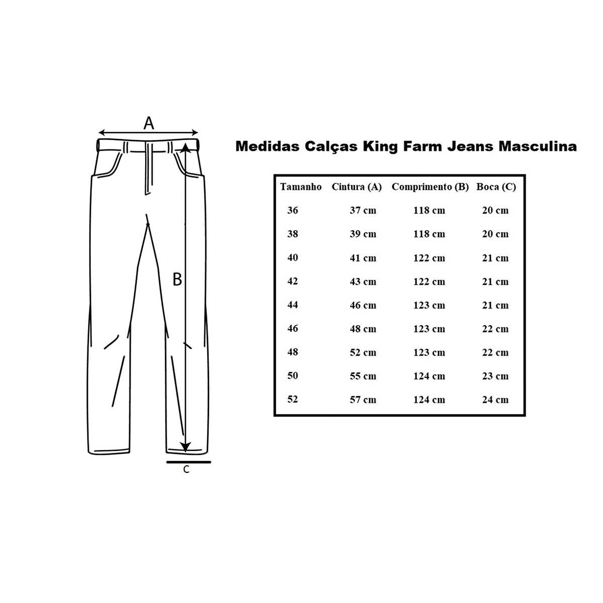 Calça Jeans King Farm Bronze King Tradicional Country - Cowboy BR 263fbdda6fe