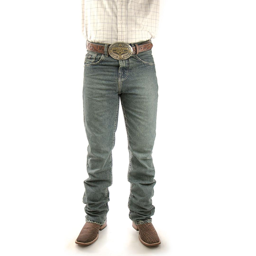Calça Jeans King Farm Dark 2.0 Relaxed Fit 100% Algodão
