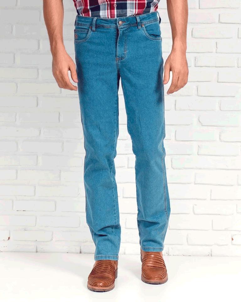 Calça Jeans Masculina Estilo Country Masculina 334 01 Delavê