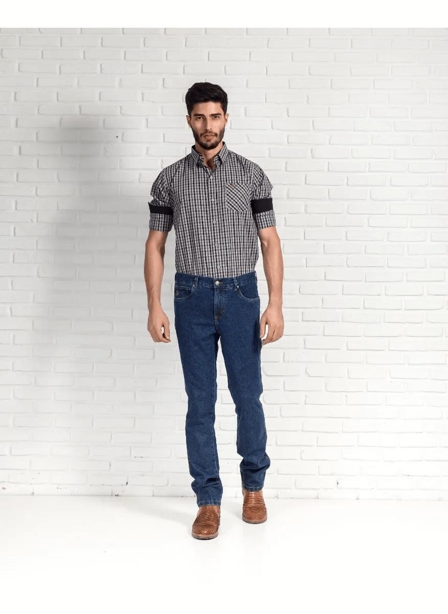 Calça Jeans Masculina Estilo Country Masculina 334 02 Stone