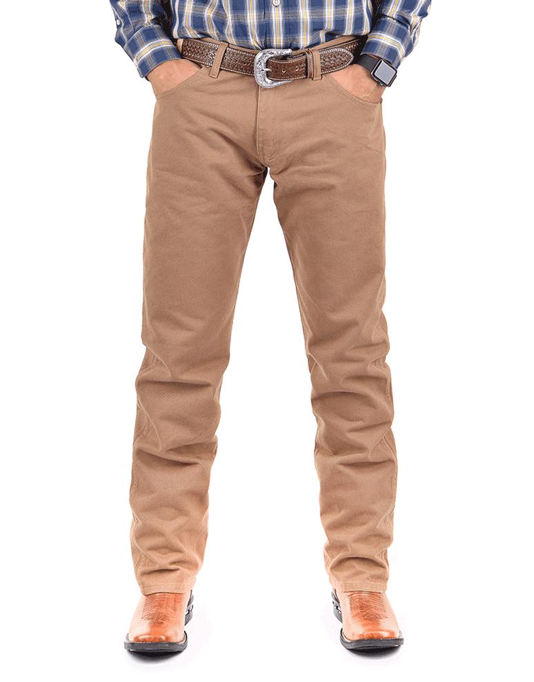 Calça Jeans Masculina Wrangler 13M de Brim Marrom 13MWZBW36