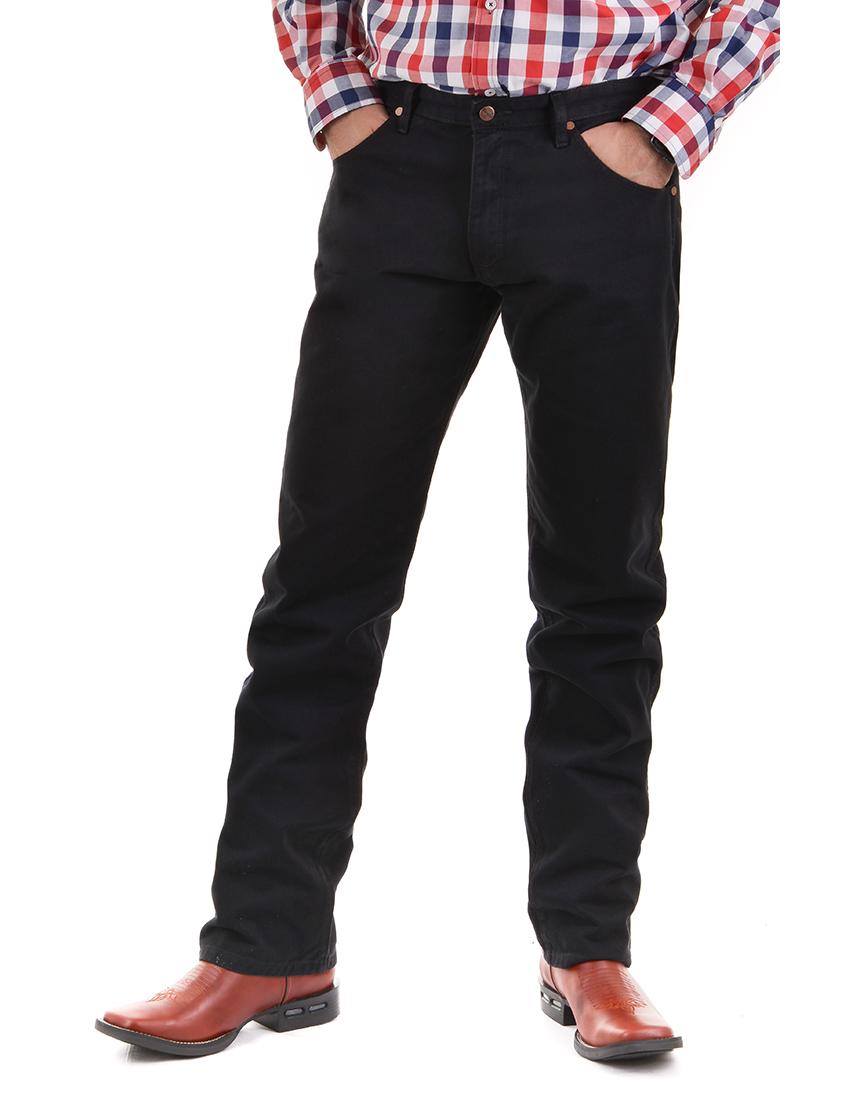Calça Jeans Masculina Wrangler 13M de Brim Preto 13MWZWK36PR