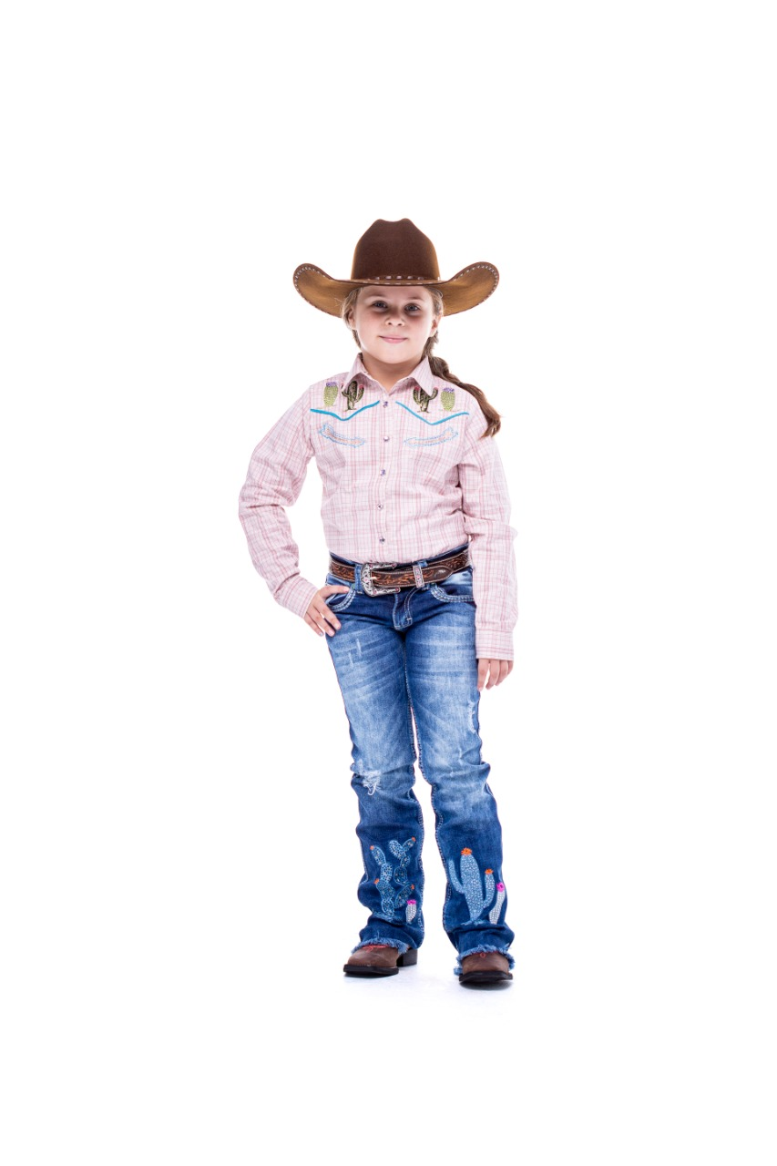 Calça Jeans Zenz Western Infantil Kids M&M`S